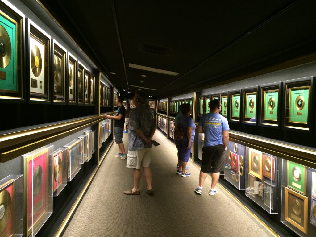 Trophy Room full of Gold Records