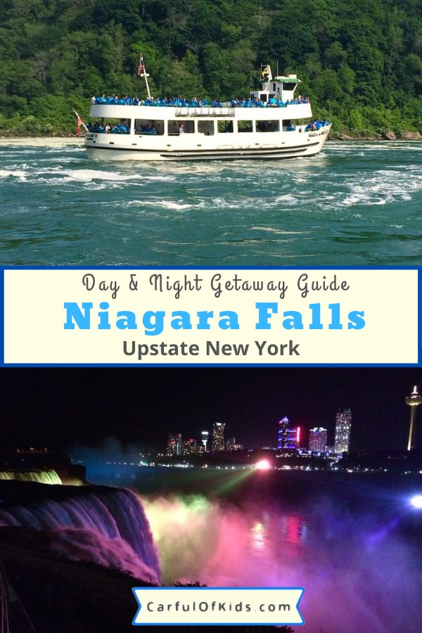 It's an iconic destination in Upstate New York. With Maid of the Mist boat tours, movies, light shows and more, get the most out of your trip. Get all the details for visiting Spring, Summer and Fall. #NiagaraFalls #UpstateNewYork #MaidoftheMist Where to go in Upstate New York | Niagara Falls Tours | Maid of the Mist |