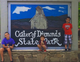 Crater of Diamonds State Park sign