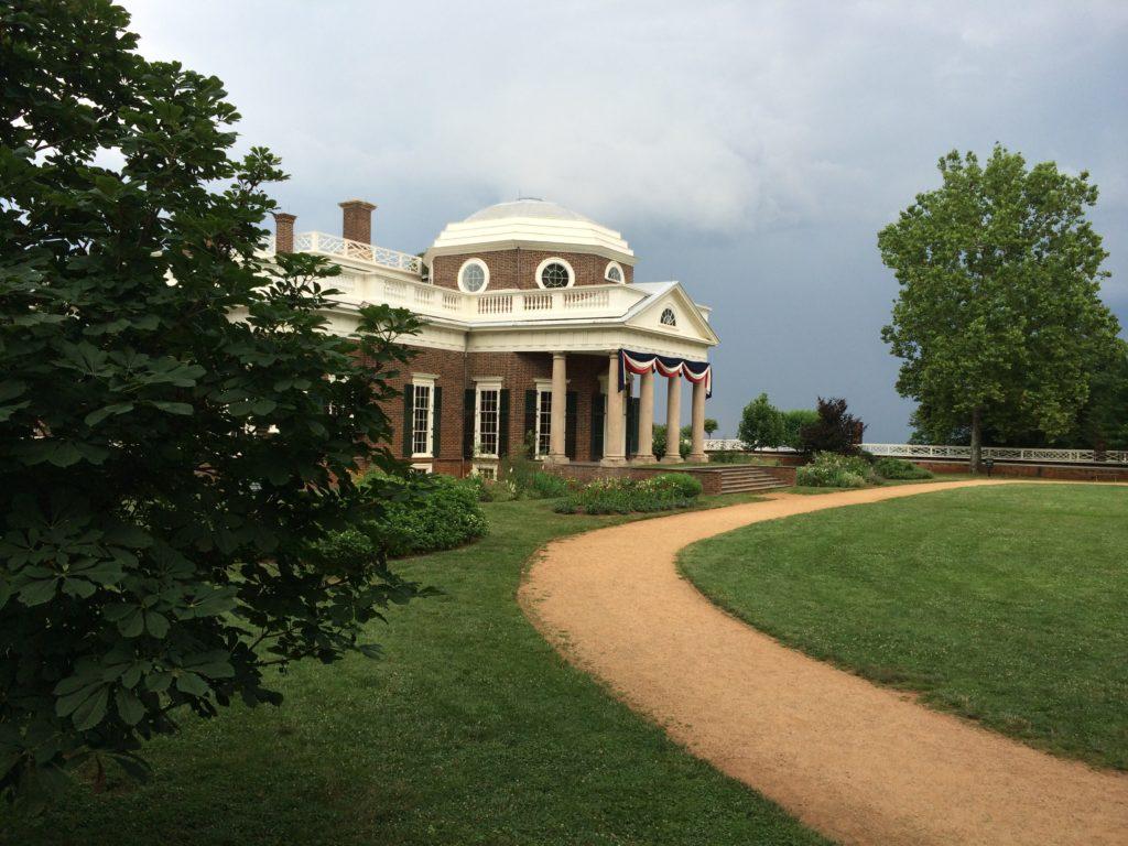 In the historic gardens of Monticello