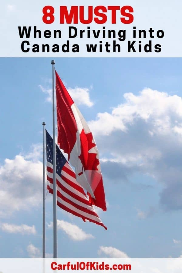 If your road trip takes your family across the U.S. Canadian border, there's several things to carry. And even some items to keep at home. And more that you should trash before you head to the border crossing. Get all the details in this article. #FamilyTravel #RoadTripstoCanada