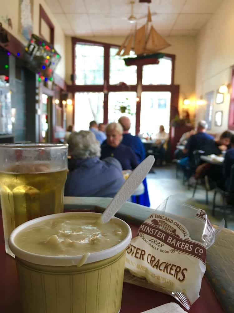 Clam Chowder. Things to do in Portland Maine with kids.