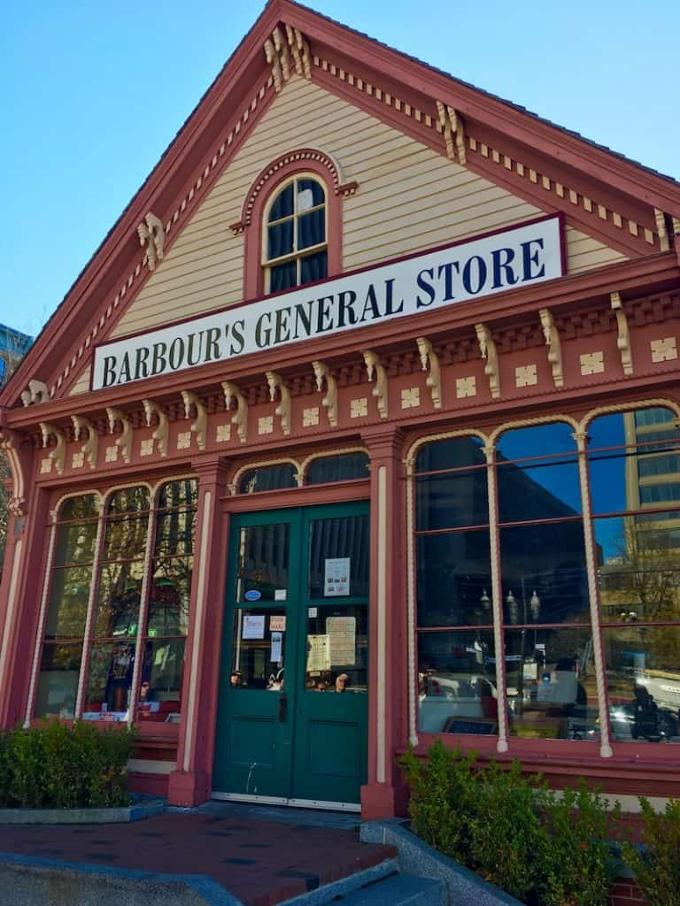 Stop by Barbour's General Store. What to do in Saint John with Kids.