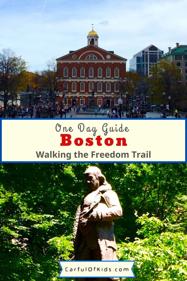 Grab the kids and find the Red Line for a day of fun on Boston's Freedom Trail. Stop by the top 16 spots that lead to the American Revolution and discover a few Boston icons as well. Find cheap eats for the kids and tips for hotels too in this One Day Itinerary for Boston. #Boston #Massachusetts #NPS #1DayinBoston | One Day Itinerary in Boston | National Park sites in Boston | What to do in Boston with Kids | The Freedom Trail in One Day | What to see in Boston with kids