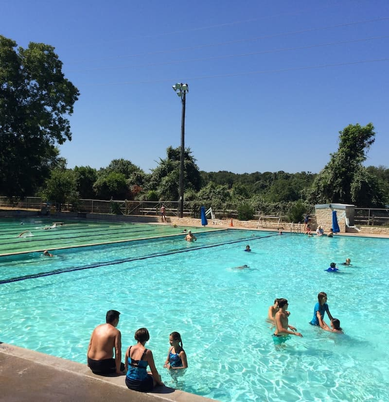 Austin Pool for kids Deep Eddy Pool in central Austin