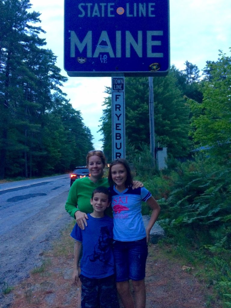 Grab a picture with a Maine sign.
