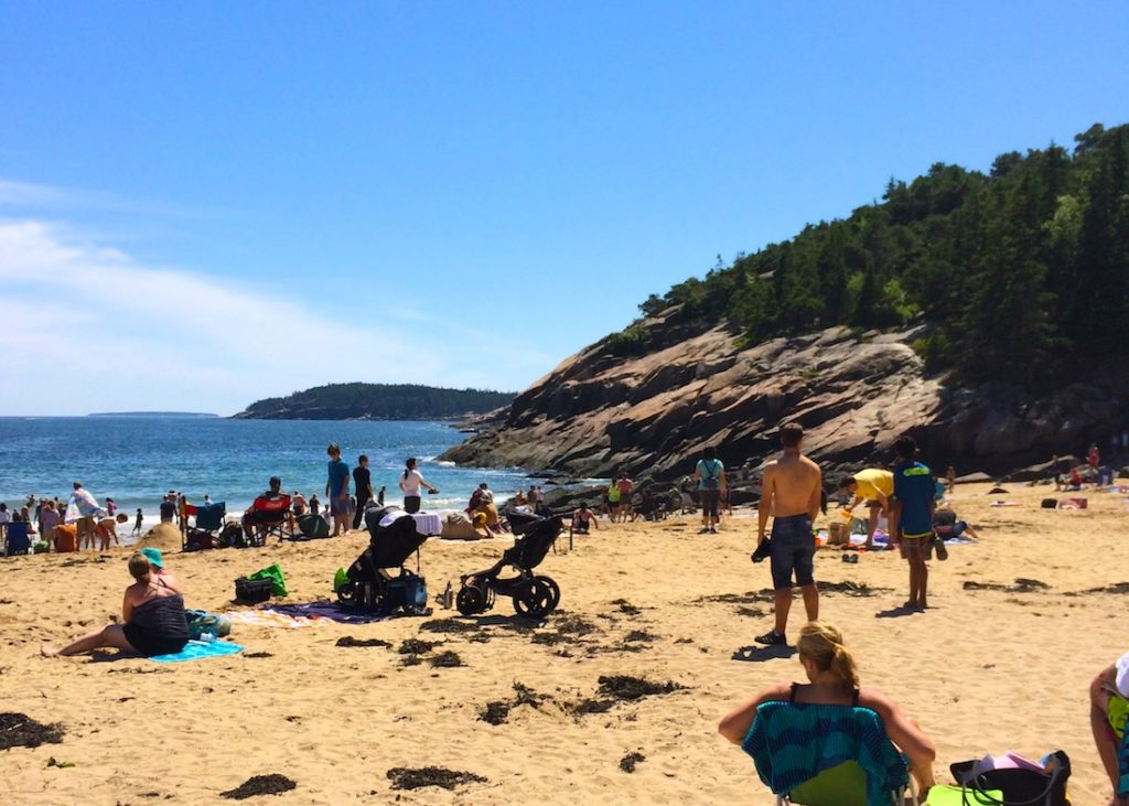 Sand Beach. How to see Acadia in One Day.