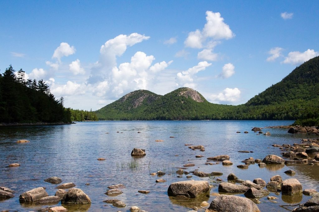 Jordan Pond. How to see Acadia in one day.