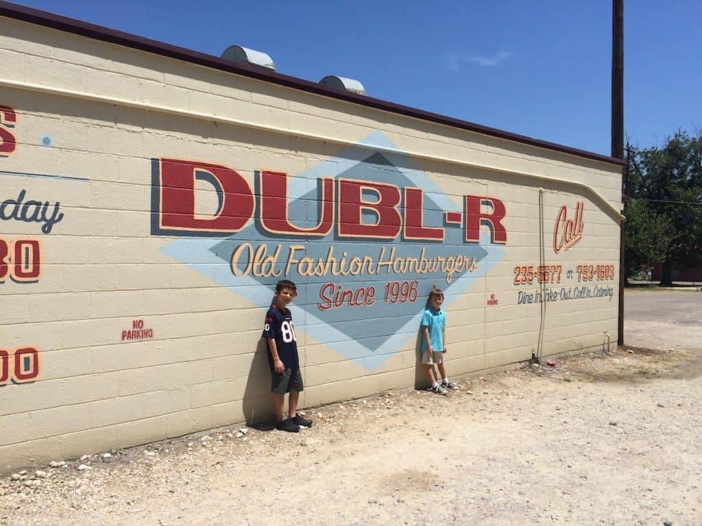 Dubl-R Burgers. Things to do in Waco with kids.