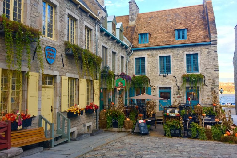 Palace Royal. Walking tour of Old Quebec's Lower Town.