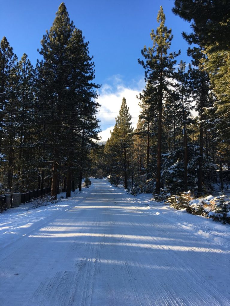 This could be your road. Pack for winter weather for your vehicle too. Lake Tahoe, what to pack for a family ski trip,
