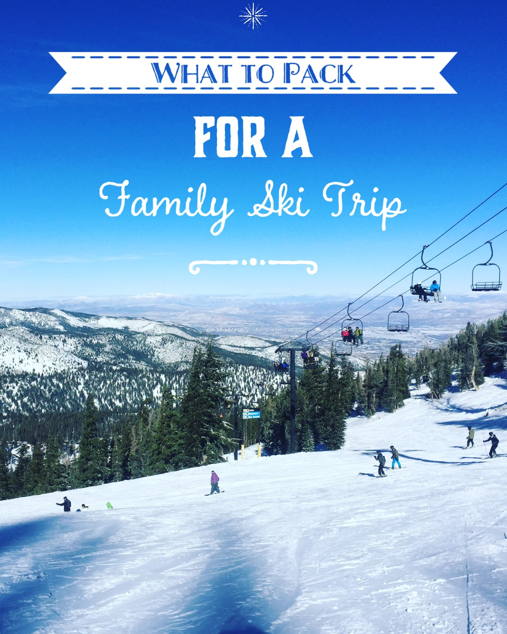 What to pack for a family ski trip.