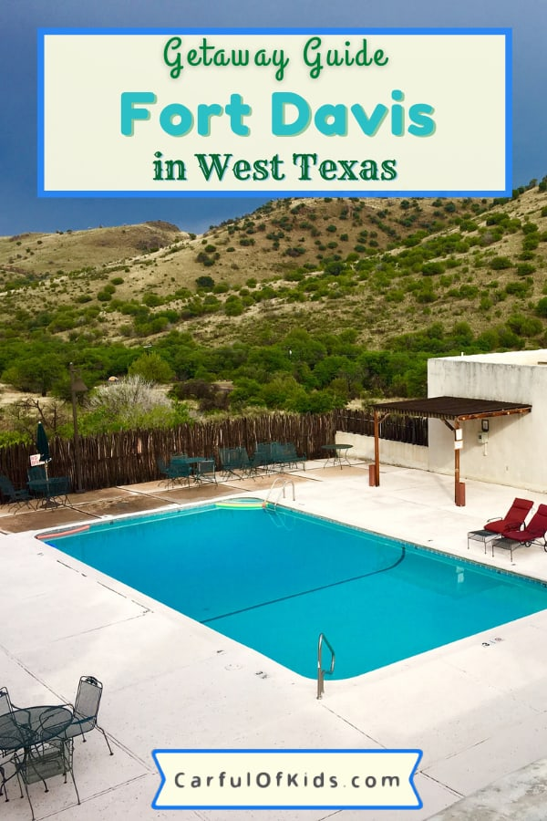 Head to West Texas for a desert getaway with star parties, western forts, world-class art and national park site. Fort Davis offers a state park, a historic lodge, an observatory and more in a quiet desert town easy to explore year-round. Get details for your trip like where to stay and what to do during your getaway. #NPS #NationalParks #Texas #FortDavis What to do in Fort Davis | CCC lodges in Texas | Star Parties in Texas | National Park Sites of Texas
