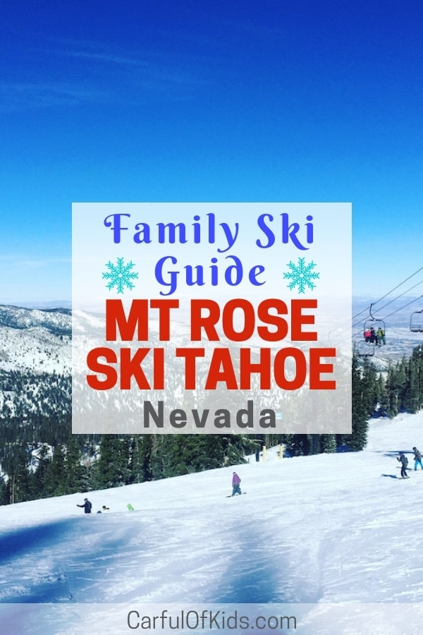 Mt. Rose Ski Tahoe offers lots of green trails for family skiers and snowboarders. Explore the Enchanted Forest or take the Galena Lift for even more green skiing. #FamilySki #LakeTahoe