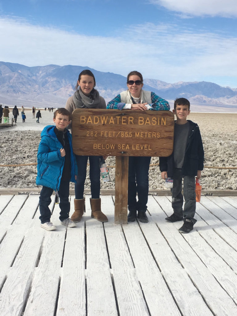 Badwater Basin is a great place for a family hike. national parks, Death Valley