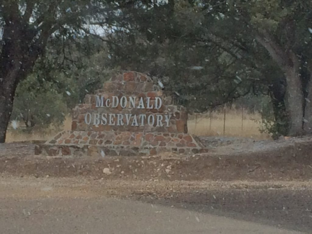 The McDonald Observatory hosts Star Parties on Tuesday, Friday and Saturday nights. A must for school-age kids. Fort Davis, Texas,