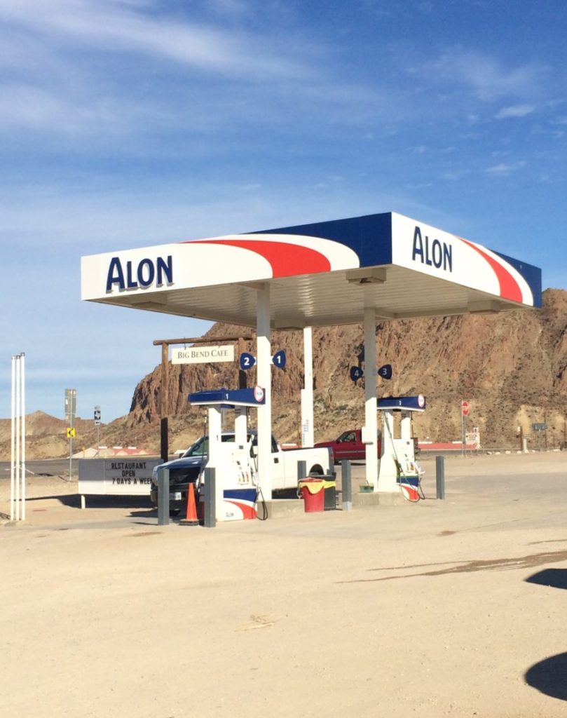 There's a rule in West Texas, if you see gas, BUY gas. west texas road trip, big bend national park,
