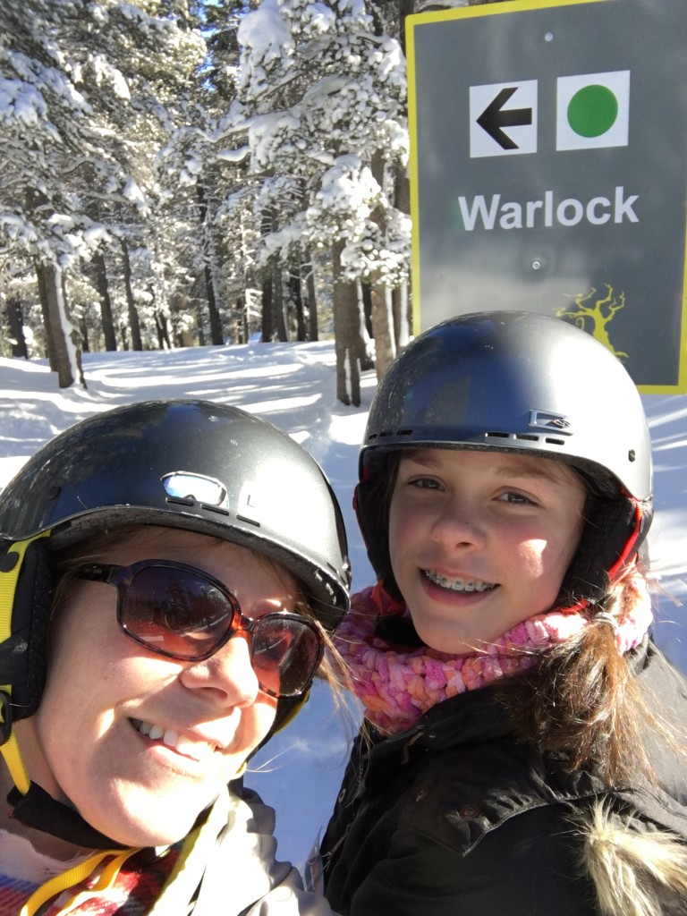 My 13-year-old loves the new green runs in the Enchanted Forest. Mt. Rose Ski Tahoe, carful of kids, family-friendly ski resorts