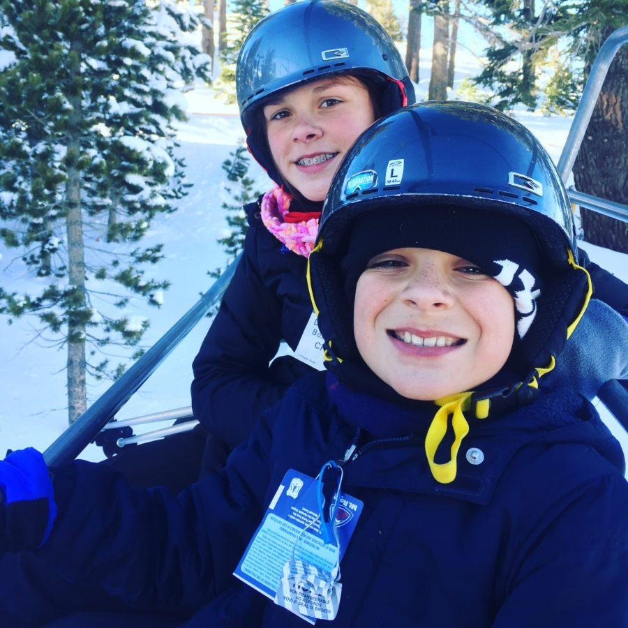 Wizard lift on their way to the Enchanted Forest. Mt. Rose Ski Tahoe for Kids