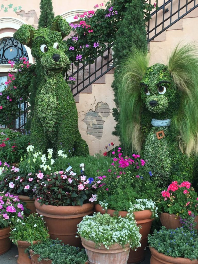 I am in love with the Lady topiary. Do you think I can take her back on the plane? Epcot's International Flower and Garden Festival