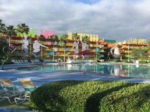 The atmosphere at the Pop Century Resort is FUN. Resort Review Walt Disney World,