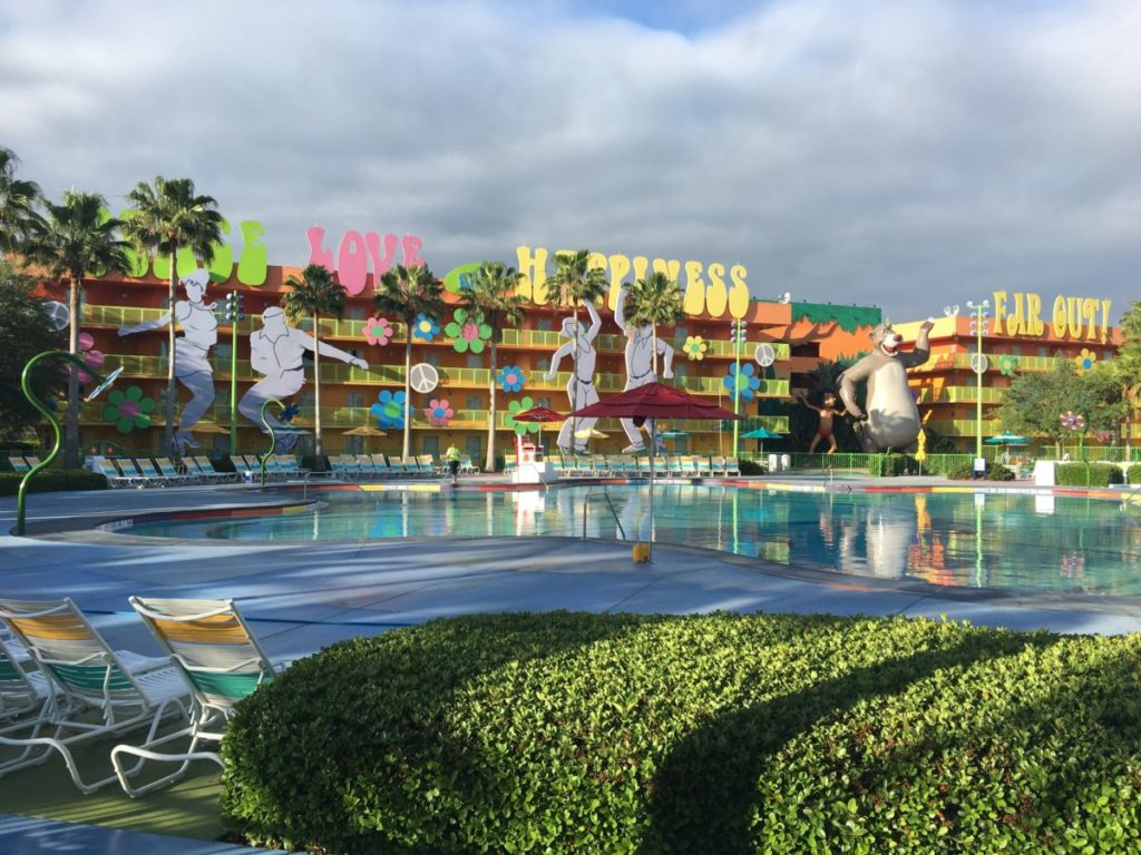 Stay at Pop Century it's one of the Disney Resorts for families.