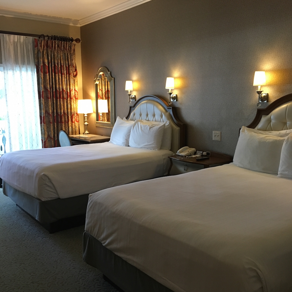 The beds in our room at the Grand Floridian Resort and Spa make for a great night's sleep. Walt Disney World, Review of the Grand Floridian Resort,