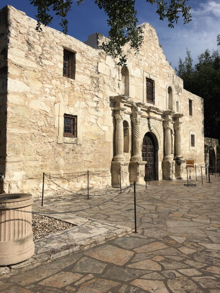 Built in 1718, the Alamo is hallowed ground for Texans. San Antonio Missions,