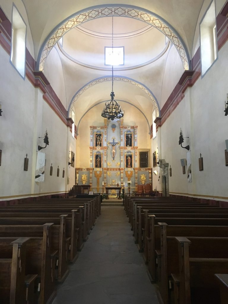 The sanctuary of Mission San Jose is the largest of any of the San Antonio Missions.