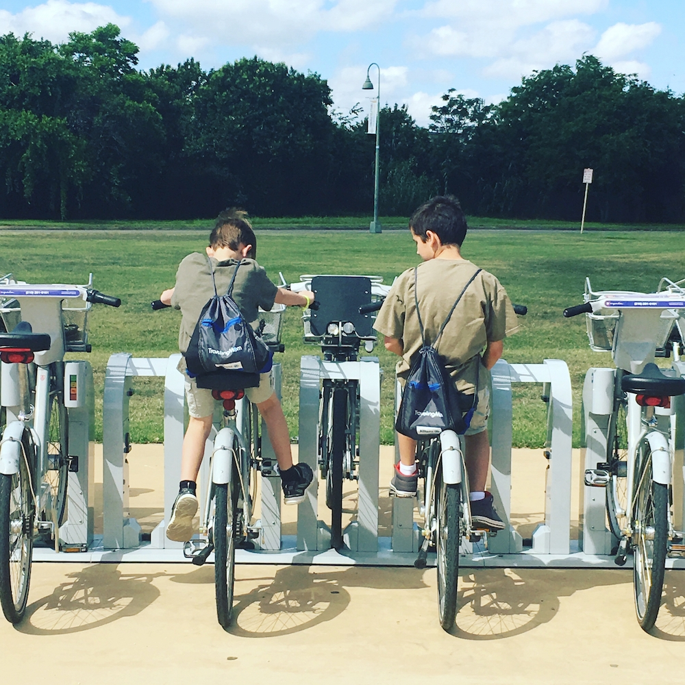 San Antonio has B Cycle Station at all the missions. Next time we will bike to the missions along the hike and bike trail.