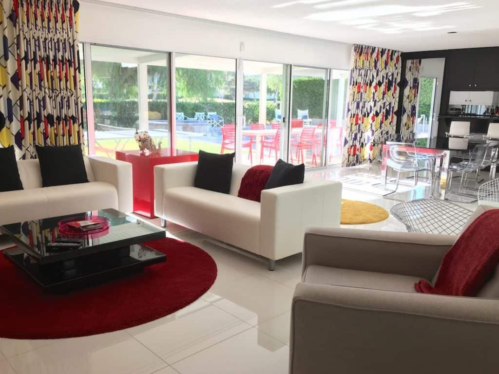 ultimate getaway for Disney fans, Walt Disney Technicolor Dream House, spend the night at Disney's Palm Springs house, dreaming with Disney in the desert,