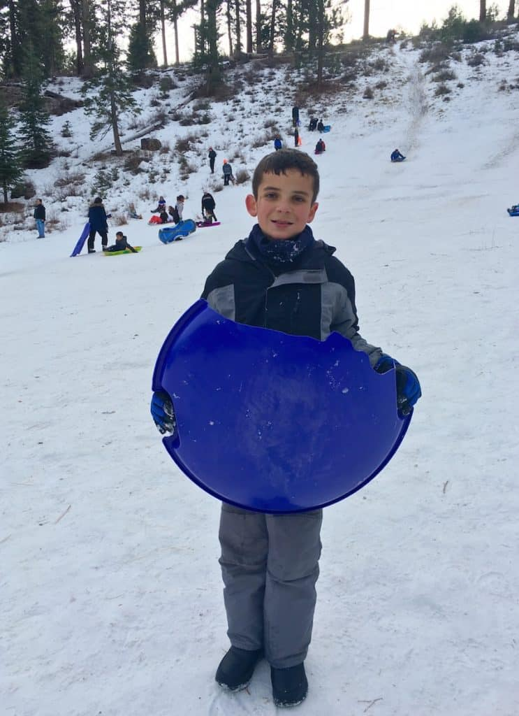 Free sledding hill near Lake Tahoe and Carson City