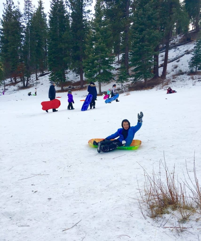 Free sledding hill near Lake Tahoe and Carson City.