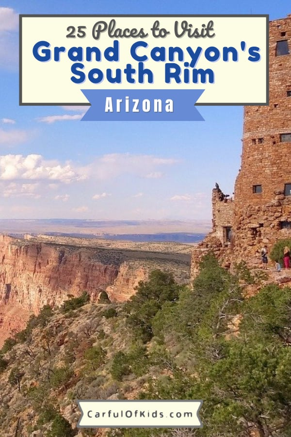 Visit an American icon at the Grand Canyon in northern Arizona. Explore the National Park and experience the desert southwest from the air, from the water and hanging over the South Rim's edge. Find 25 things to do at the Grand Canyon. #NPS #GrandCanyon #Arizona What to do at the Grand Canyon's South Rim | Where to stay at the Grand Canyon National Park | Where to eat near the Grand Canyon National Park