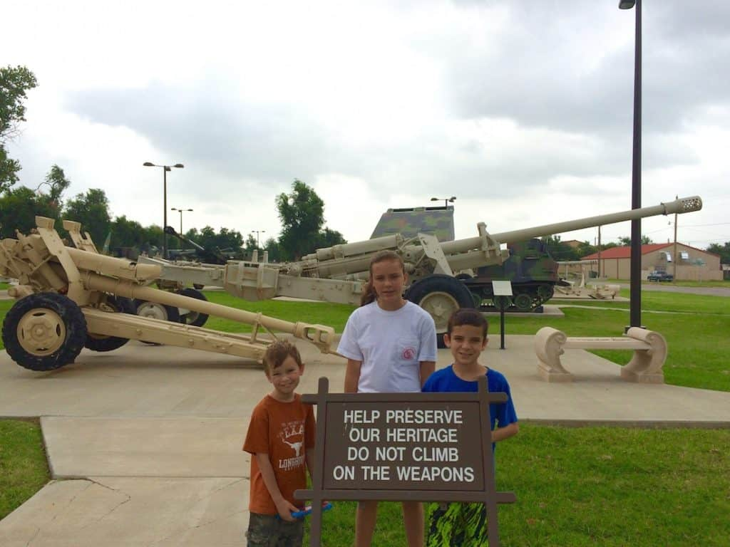 Explore Fort Sill especially for the Howitzers.