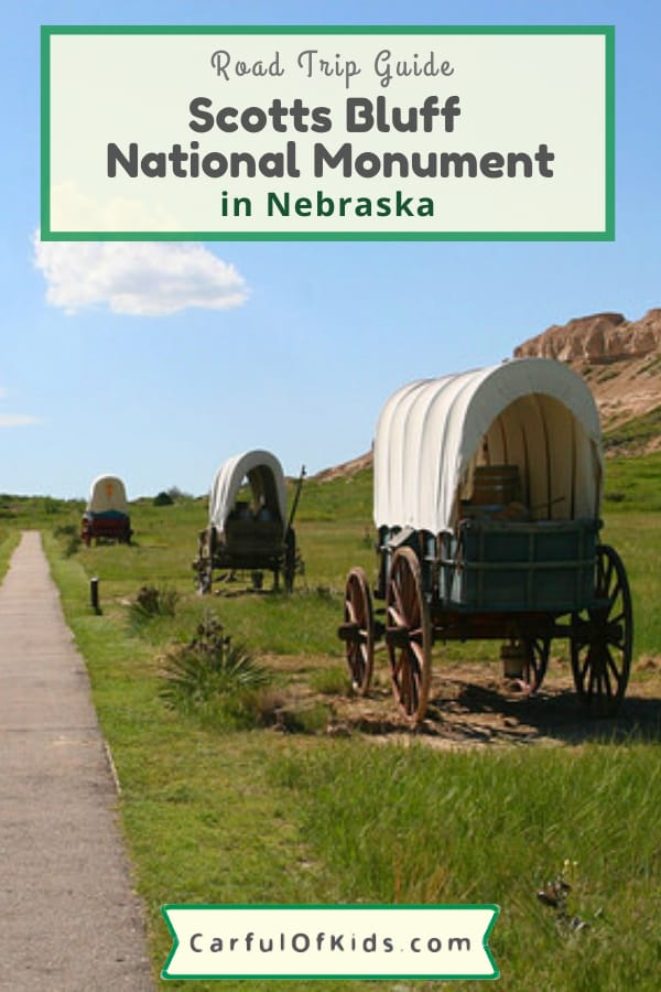 Learn how pioneers moved West in the 1800s on the Oregon Trail. Explore Scotts Bluff National Monument in Nebraska to see covered wagons and the ruts they left over 100 years ago. #NationalParks #NPS #Nebraska What to do in Nebraska | Road Trip Stops in Nebraska | National Parks in Nebraska