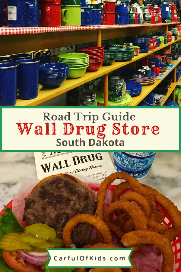 Wall Drug Store along Interstate 90 in South Dakota sells everything a traveler forgot at home along with a cafe packed with burgers, donuts and more. #SouthDakota #WallDrug #BlackHills Where's Wall Drug Store | What to do in South Dakota | Where to eat in the Black Hills