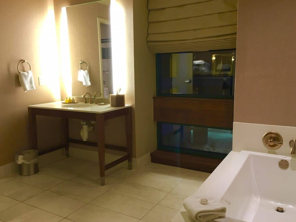 The bathroom at the Chickasaw Retreat and Conference Center in Sulphur, Oklahoma.
