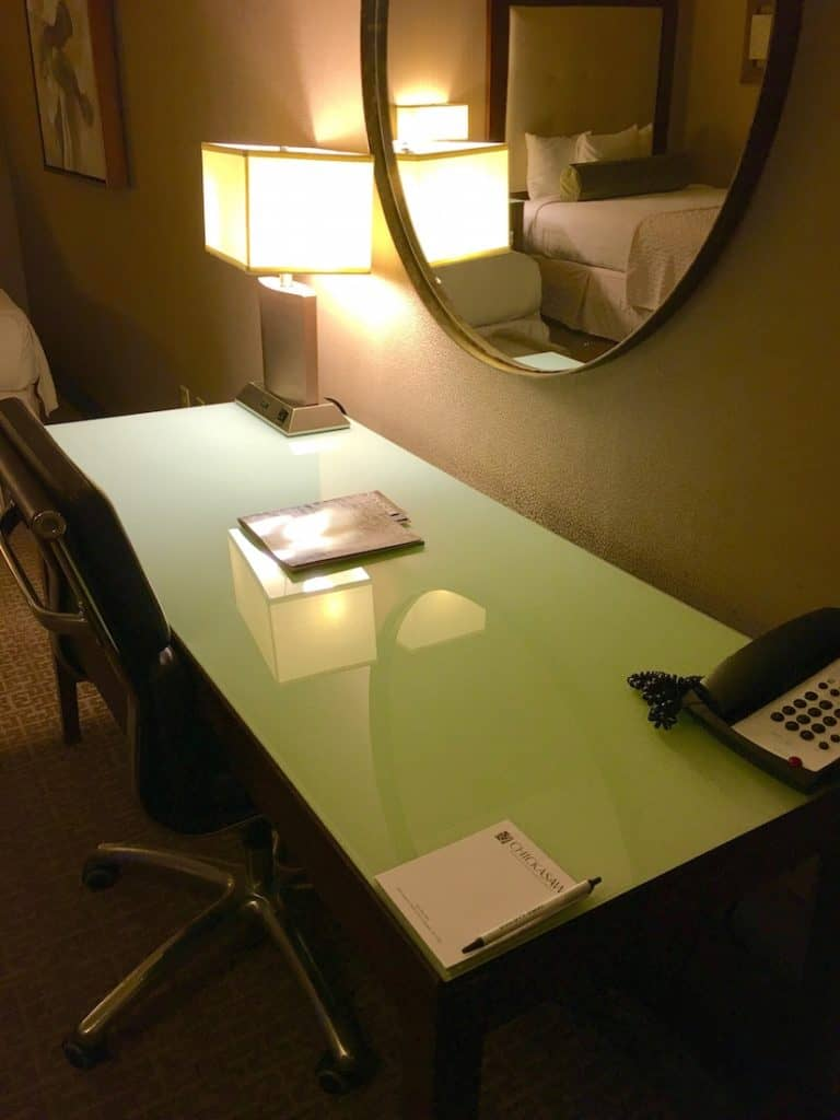 The work desk at the Chickasaw Retreat and Conference Center.