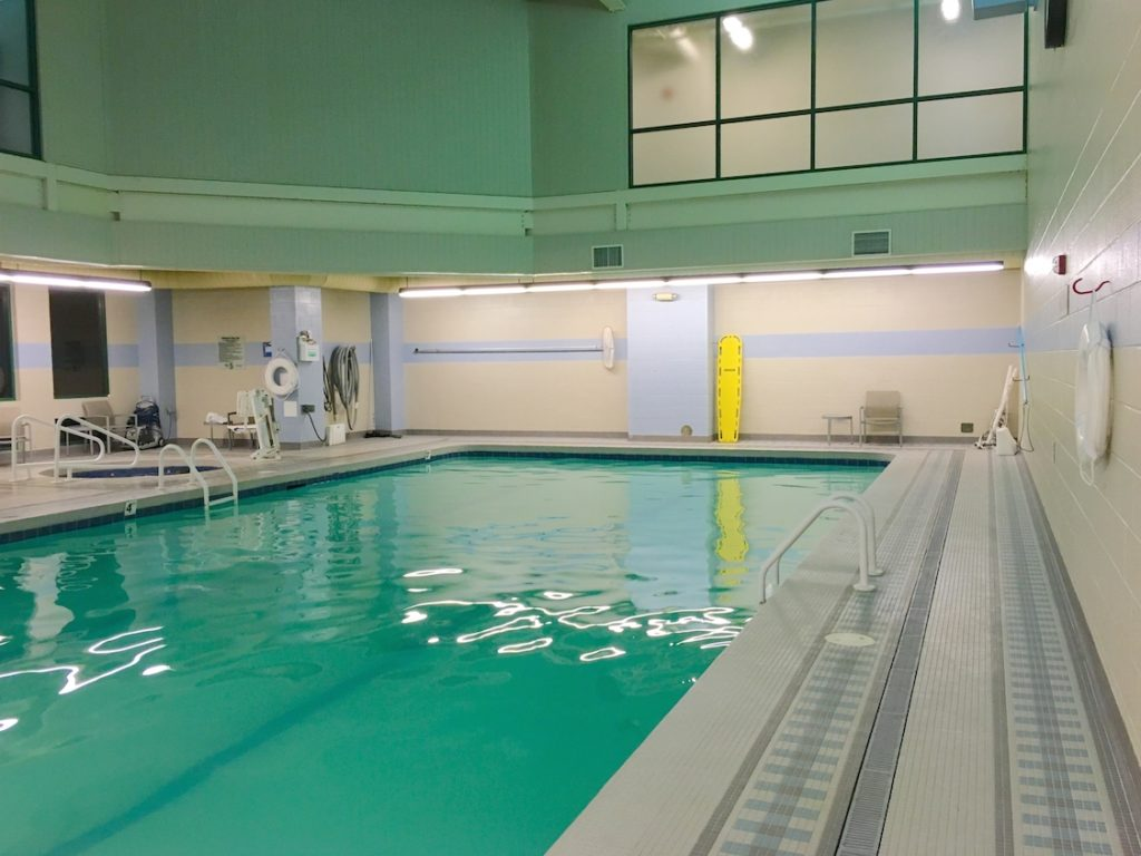 The indoor pool at Chickasaw Retreat and Conference Center in Sulphur, Oklahoma.