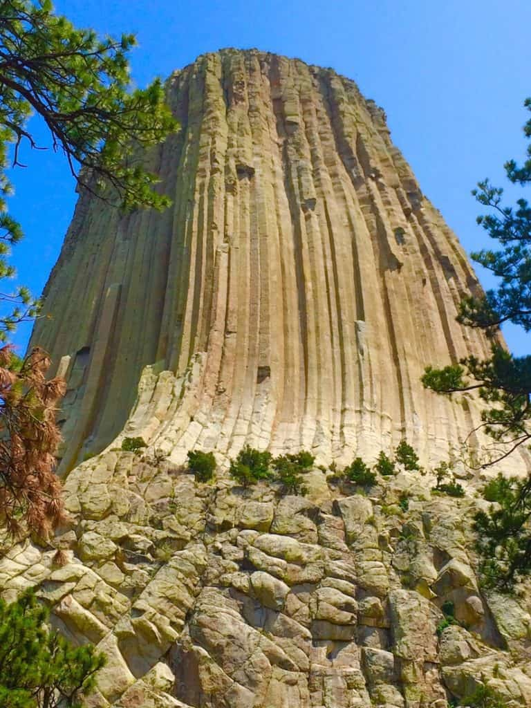 camping in the shadow of Devils Tower National Monument in Key Hole State Park.