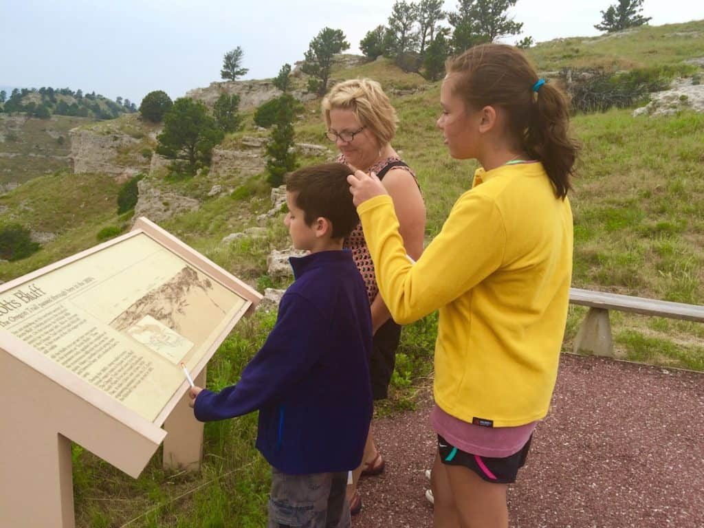 Hike on top of the Scotts Bluff Summit for family fun