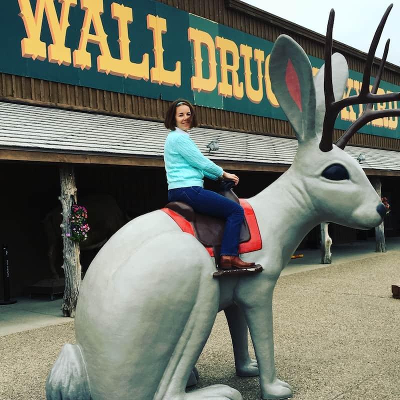 Hop on the Jackalope at Wall Drug in South Dakota.