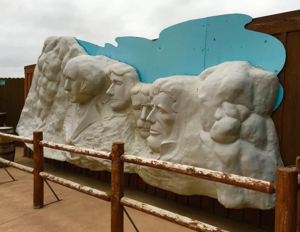 a replica of Mount Rushmore.