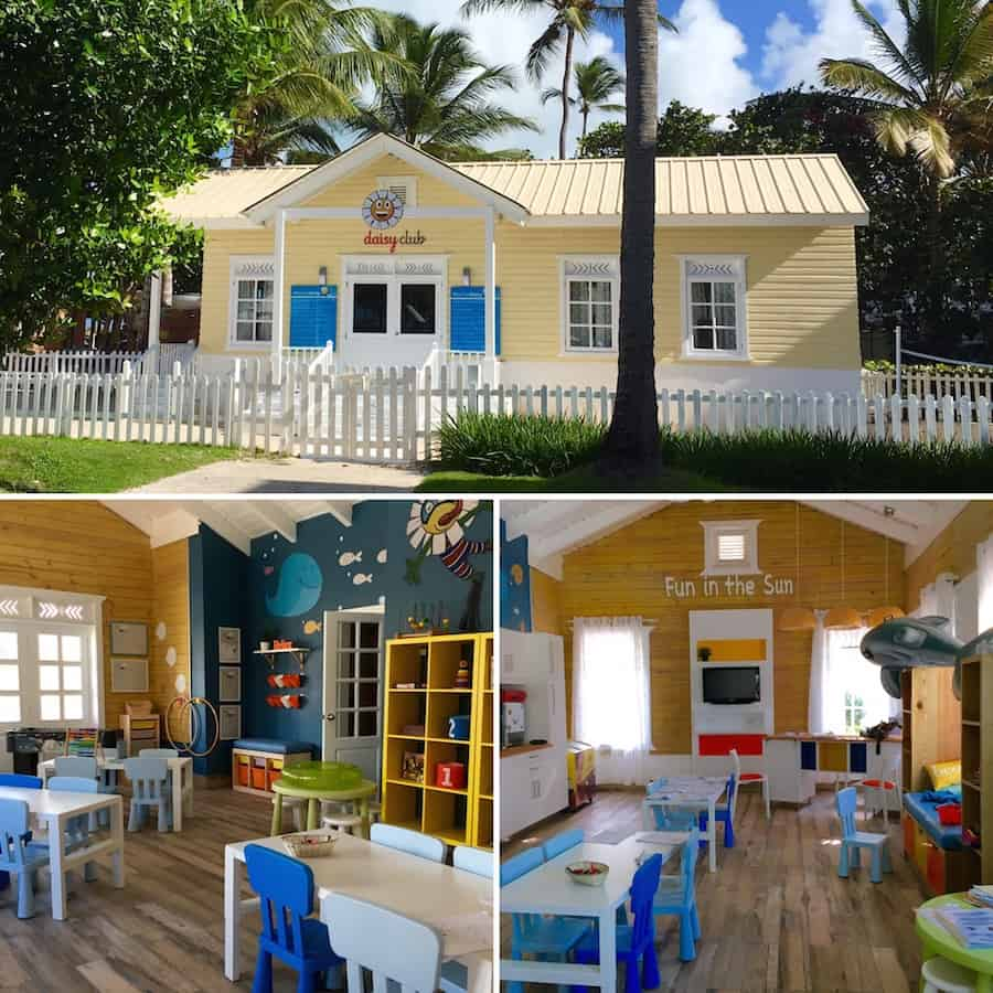 Play at the Daisy Club at the Ocean Blue and Sand with kids.