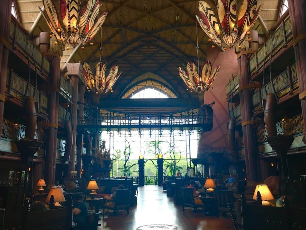 Animal Kingdom Lodge for families. Lobby at Animal Kingdom Lodge