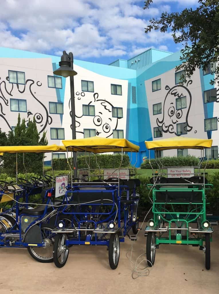 Enjoy the bikes while staying at the Art of Animation.