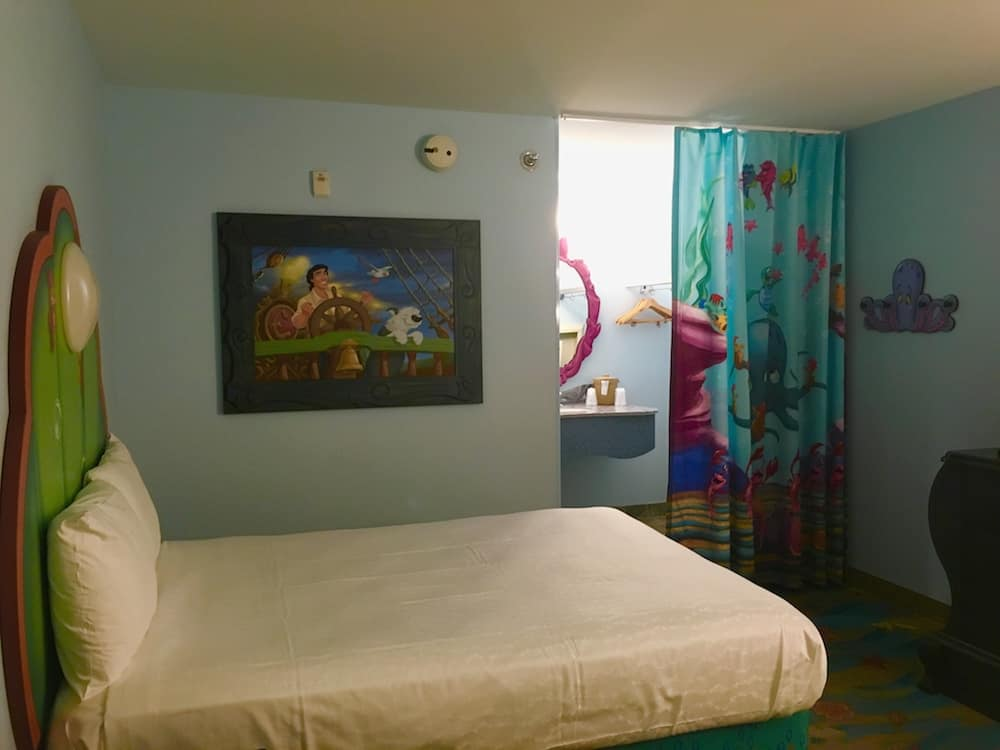 Staying at the Art of Animation Value Resort in Walt Disney World offers basic rooms.
