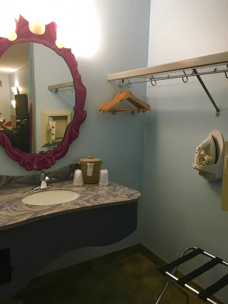 Enjoy a cute bathroom while staying at the Art of Animation.
