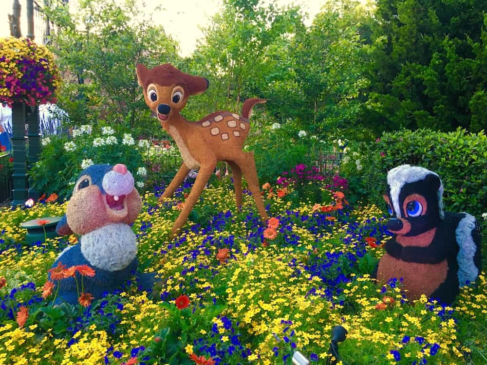 Thumper and Bambi Epcot's Flower and Garden Festival with Kids.